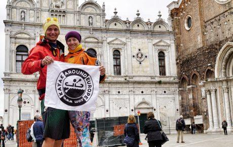 Kayak Around Europe v Benátkách
